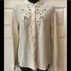 Free People floral embroidered top sz. M